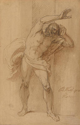 Drawing - Study For The Crucifixion by Benjamin West