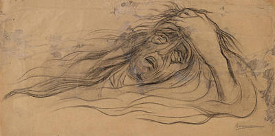 Drawing - Study For The Dream - Paolo And Francesca by Umberto Boccioni