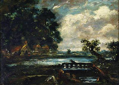 Painting - Study For The Leaping Horse View On The Stour by Constable John