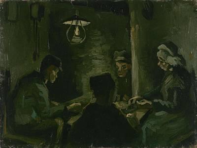 Painting - Study For The Potato Eaters' Nuenen, April 1885 Vincent Van Gogh 1853  1890 by Artistic Panda