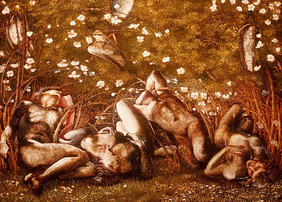 Painting - Study For The Sleeping Knights by Edward Burne-Jones