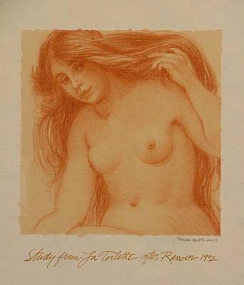 Study From La Toilette After Renoir Art Print by Gary Kaemmer