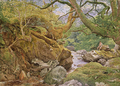 Overhanging Painting - Study From Nature, Inveruglas, 1857 by Joseph Noel Paton