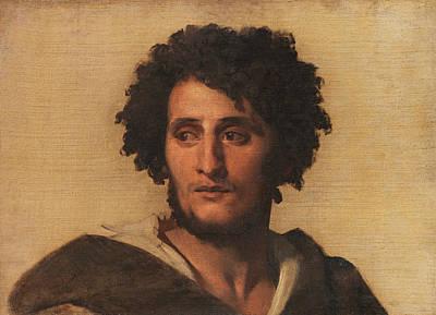 Anselm Feuerbach Painting - Study Head Of A Roman by Anselm Feuerbach