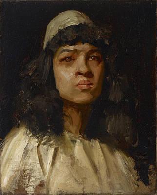 Painting - Study Head by William Merritt Chase
