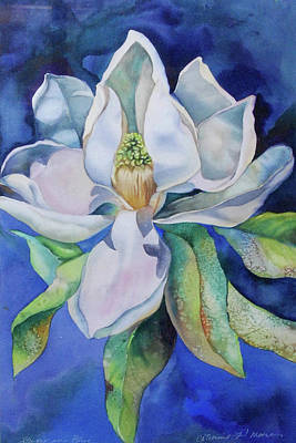 Study In Blue Art Print by Catherine Moore