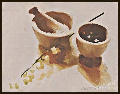 Art Print featuring the digital art Study In Brown by Alexis Rotella