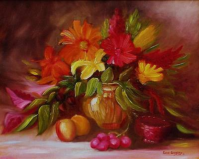 Painting - Study In Floral by Gene Gregory