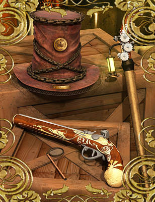 Steampunk Royalty-Free and Rights-Managed Images - Study in Steampunk by Digital Art Cafe