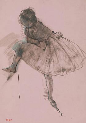 Study Of A Ballet Dancer Art Print by Edgar Degas