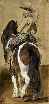 Study Of A Horse With A Rider Art Print by Peter Paul Rubens