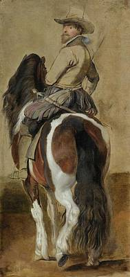 Study Of A Horse With A Rider Art Print by Sir Peter Paul Rube