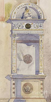 Altar Wall Art - Painting - Study Of A Jesuit Altar, Certosa Di Pavia, 1891 by Charles Rennie Mackintosh