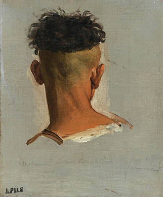 Isidore Pils Painting - Study Of A Kabyle's Head by Isidore Pils