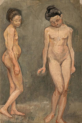 Painting - Study Of A Naked Model by Hugo Simberg