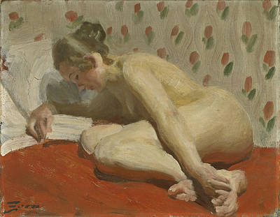 Anders Zorn Painting - Study Of A Nude by Anders Zorn