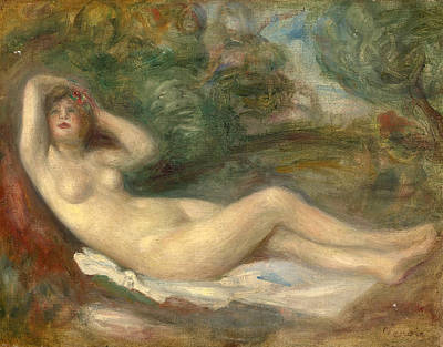 Painting - Study Of A Nude by Pierre-Auguste Renoir