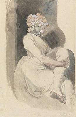 Swiss Drawing - Study Of A Seated Woman by Henry Fuseli