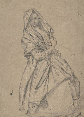Drawing - Study Of A Seated Woman by Treasury Classics Art