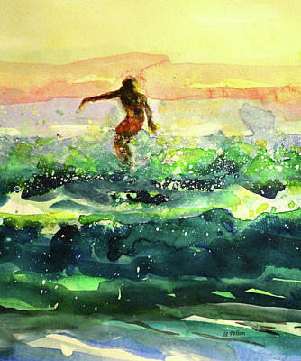 Study Of A Surfer 1 Art Print
