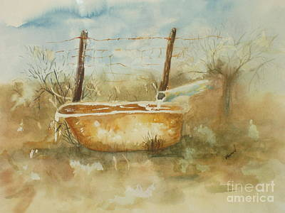 Study Of A Watering Tub Art Print