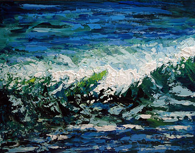 Painting - Study Of A Wave by Suzanne McKee