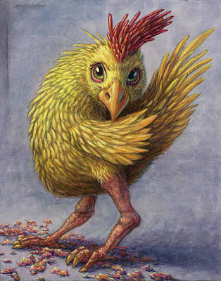 Study Of A Wild Chick Art Print