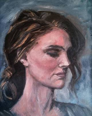 Painting - Study Of A Woman In Moonlight #1 by Brian Kardell