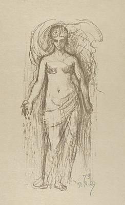 Relief - Study Of A Woman  by Pierre Puvis de Chavannes