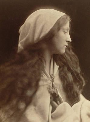 Brooch Photograph - Study Of A Young Girl Dressed As A Peasant by Julia Margaret Cameron
