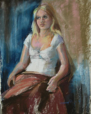 Painting - Study Of A Young Girl by Synnove Pettersen