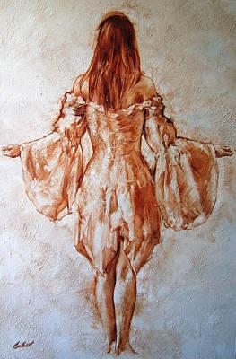 Study Of An Angel Art Print by Stuart Gilbert