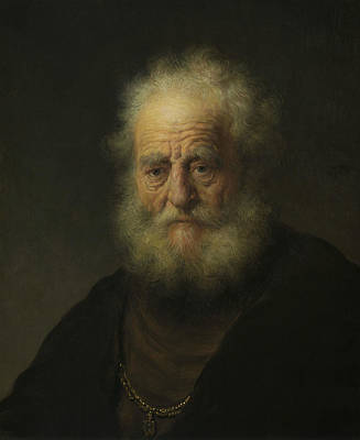 Painting - Study Of An Old Man With A Gold Chain by Rembrandt