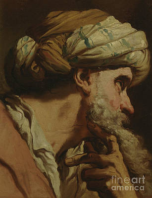 Deep In Thought Painting - Study Of An Oriental Head by Gaetano Gandolfi