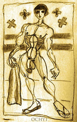 Drawing - Study Of Anatomy by Don Pedro De Gracia