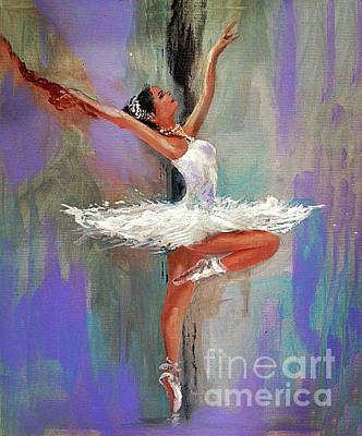 Bailarina Painting - Study Of Bailarina by Jose Luis Reyes