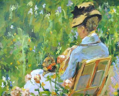 Study Of Cassatts In The Garden Original