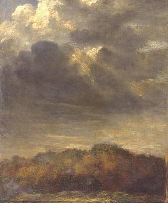 Nature Study Painting - Study Of Clouds by George Frederic