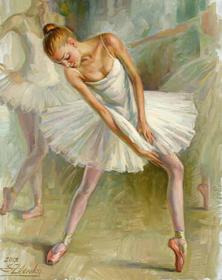Painting - Study Of Dancer by Serguei Zlenko