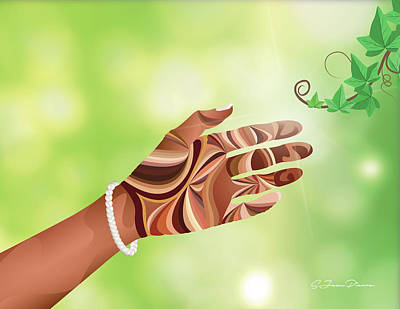 Nature Study Digital Art - Study Of Hands No.12 - Pearls by Sandra Jean-Pierre