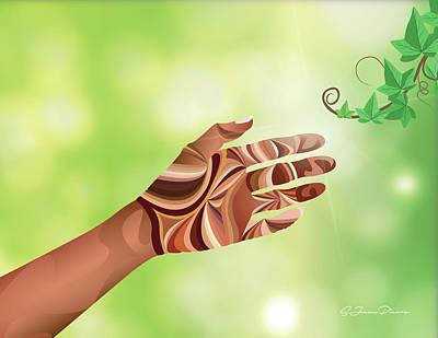 Nature Study Digital Art - Study Of Hands No.12 by Sandra Jean-Pierre