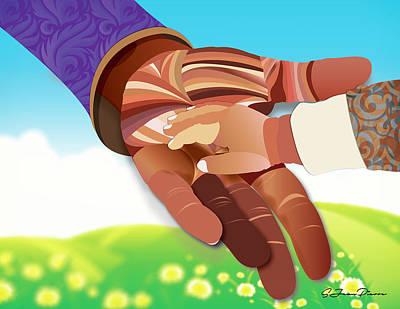 Digital Art - Study Of Hands No.19 by Sandra Jean-Pierre