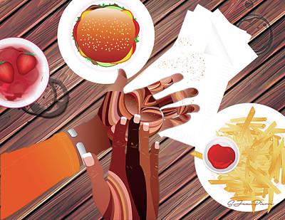 Digital Art - Study Of Hands No.21 by Sandra Jean-Pierre