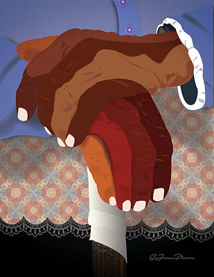 Digital Art - Study Of Hands No.26 by Sandra Jean-Pierre