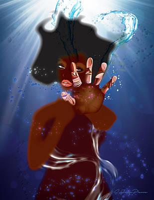 Digital Art - Study Of Hands No.27 by Sandra Jean-Pierre