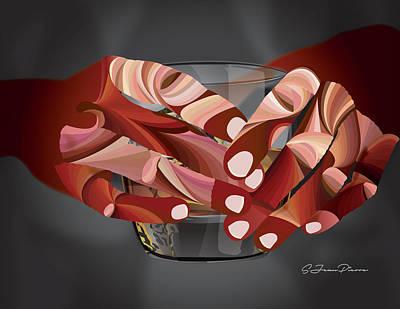 Digital Art - Study Of Hands No.29 by Sandra Jean-Pierre