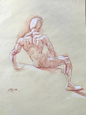 Drawing - Study Of Manikin by Alejandro Lopez-Tasso