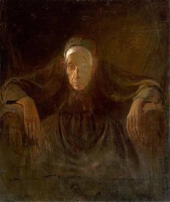 Painting - Study Of Old Woman, Laszlo Mednyanszky, 1881 by Vintage Printery