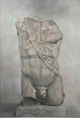 Drawing - Study Of Roman Torso by Paez ANTONIO