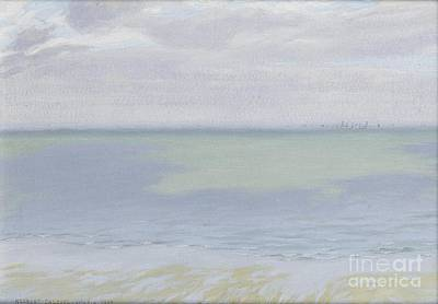 Study Of Sky And Sea Painting - Study Of Sea And Sky by MotionAge Designs